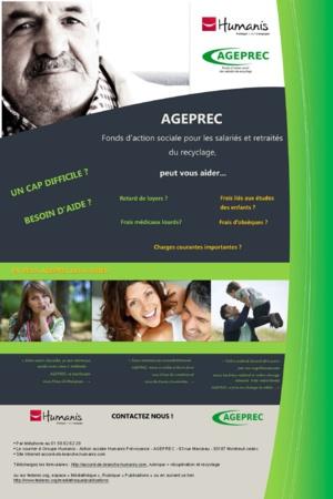 La plaquette de présentation de l'AGEPREC