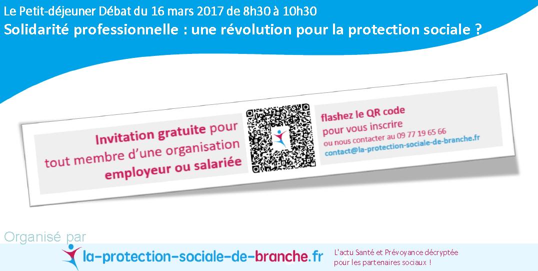 """LE PROGRAMME du Petit-déjeuner """"Solidarité professionnelle: une révolution pour la protection sociale?"""""""
