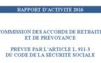 Rapport 2016 de la COMAREP